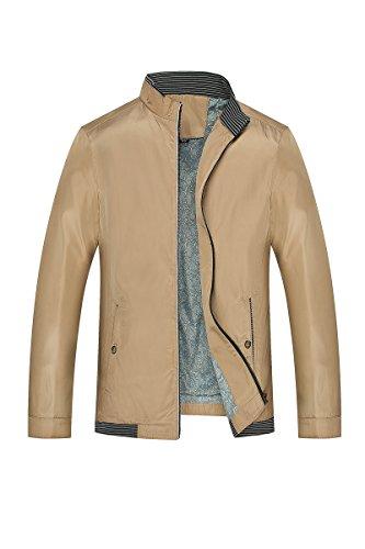 Del Tasca Cappotto Con Pulsante 205 Kaki Collare Lunga Colore Rivestimento Di Manica Dyf Grande Cerniera Solido 7wxR5qPvE