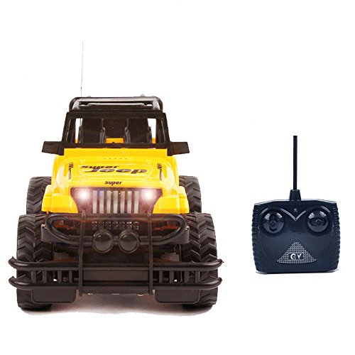 Latburg Remote Control Jeep Rc Cars for Sale Micro Electric Truck Best Electric Toy Christmas Gift for Kids/Friends (Yellow)