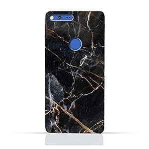 AMC Design Google Google Pixel XL TPU Silicone Protective Case with Grey Marble texture Design