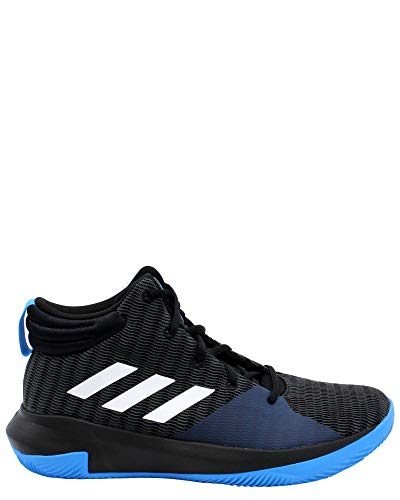 adidas Unisex Pro Elevate 2018 Basketball Shoe, Black/White/Bright Blue, 5 M US Big Kid
