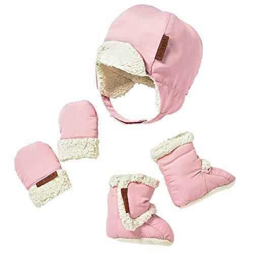 JJ Cole Bomber Hat Set Blush, Pink