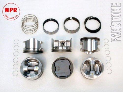 Upgraded Piston//Premium Ring Kit 95-04 Toyota 3.4L Tacoma 4Runner T100 Tundra 5VZFE .010=.25mm