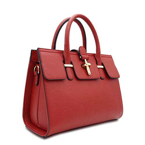 Rouge simple à à bandoulière sac sac main dames bandoulière mode Sac Vin de à carré wBF6SqwT