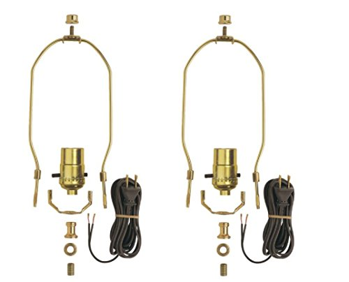 Dysmio Lighting - Make A Lamp Kit Brass Plated (2 Pack) for sale  Delivered anywhere in USA
