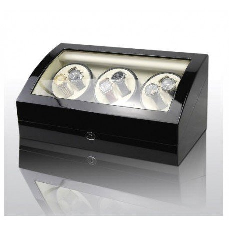 84b734c23 Vitrina movimiento relojes Watch Winder 6+7 Black-Cream Modelo 038BW:  Amazon.es: Hogar