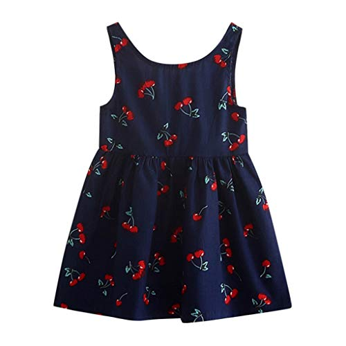 VEZAD Toddler Girls Summer Princess Dress Kids Baby Party Wedding Sleeveless ()
