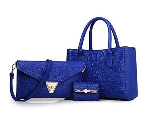 Blue PU Keshi Tote Summer Classic Bag Sea Straw Handbag Shoulder Beach Cute UB4wBx