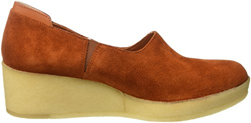 Clarks Originals Athie Luna, Zapatos de Cuñas Mujer Marrón (Rust Vintage Sde)