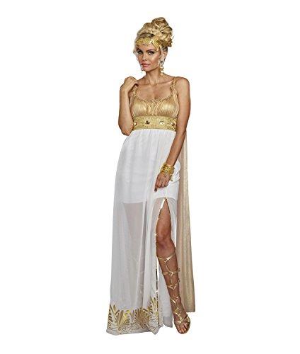 Dreamgirl Women's Athena, White/Gold, L