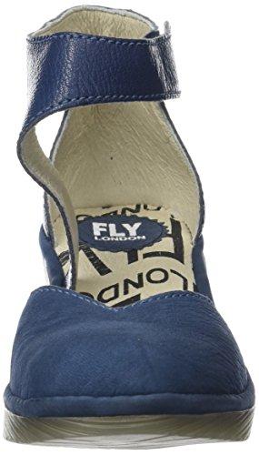con Cinturino Fly Donna Scarpe Blue Caviglia alla London Pats801fly Blu qxS4t1