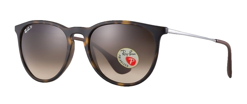 Ray Ban Erika Sunglasses (Brown Frame Polarized Brown Lens, Brown Frame Polarized Brown Lens) by Ray-Ban (Image #1)