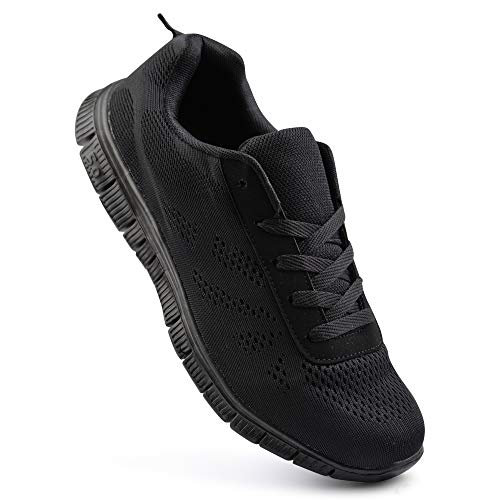 Marche Running Athletic Gym Sport Chaussures Respirant Uk Noir Mesh Trainers Get Fit Tailles Hommes I0Yqx