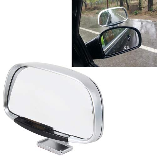 HITSAN INCORPORATION Car Blind Spot Side View Wide Angle Convex Mirror Vision Collection Side View Mirror Blind Spot Mirror(Silver)
