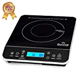Duxtop Portable Induction Cooktop, Countertop Burner Induction Hot Plate with LCD Sensor Touch 1800 Watts, 9600LS Silver