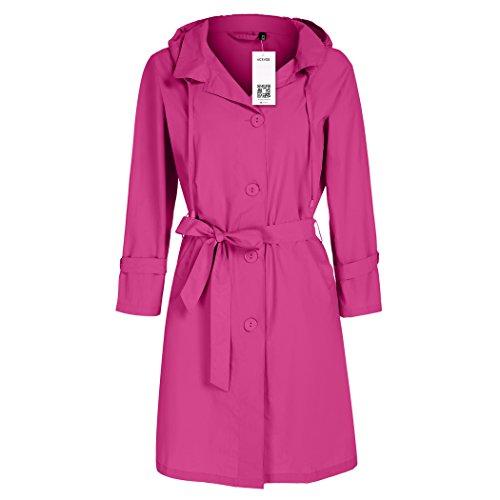 Rei Womens Belt - ACEVOG Ladies Women Girls Rain Parka Festival Raincoat Jacket Coat