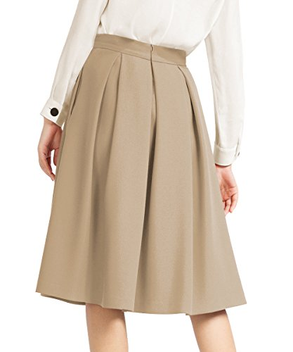 525ee2000 Yige Women's High Waisted A line Skirt Skater Pleated Full Midi Skirt Khaki  US8 - N002-kaqi-8 < Skirts < Clothing, Shoes & Jewelry - tibs