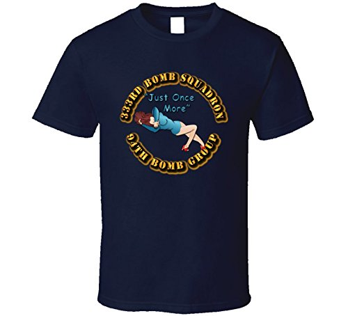 SMALL - AAC - 333rd Bomb Squadron - 94BG - Just Once More T Shirt - Navy (Operation Storm 333)