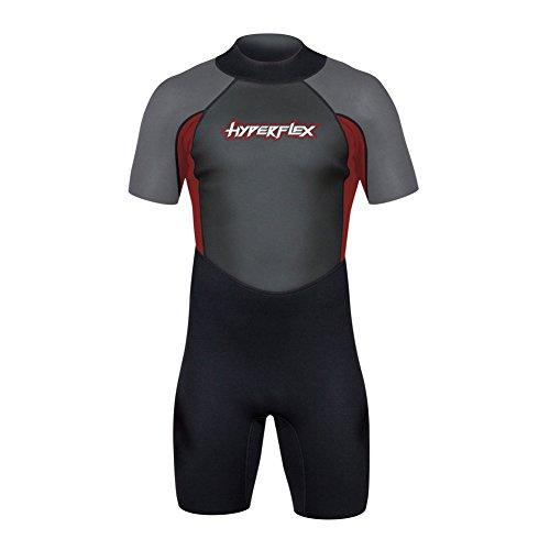 Hyperflex Men's ACCESS 2.5mm Back Zip Spring Suit - (Red, X-Large)