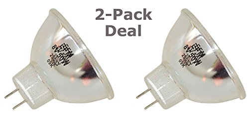 2pcs RM-101 EFM 8V 50W Donar Bulb Lamp for HANIMEX S-VIII 1000 1000 SR8000 SR8600 SR 8600 8000 EFM - Sankyo Sound 460 500 Dualux 1000 - Topcon TRCNW3 - Ushio 268 8v 50w Lamp
