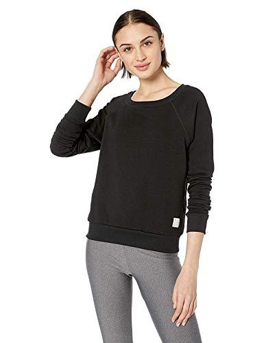 (Maaji Women's Sleek French Terry Crew Neck Sweatshirt, Studded Onyx Large)