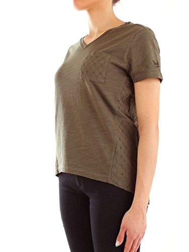 Penn Donna Woolrich Manica Scuro By shirt Sangallo Verde Wytee0429 Mezza Inserti T rich A4wrzgRqA
