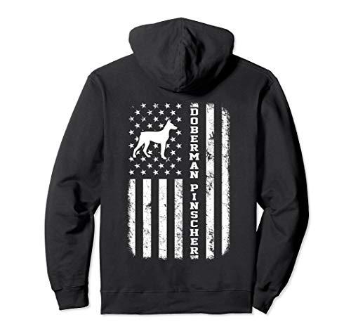 Doberman Pinscher Flag Gift T-Shirt For Dog Lovers - Pinscher Adult Hoody Sweatshirt
