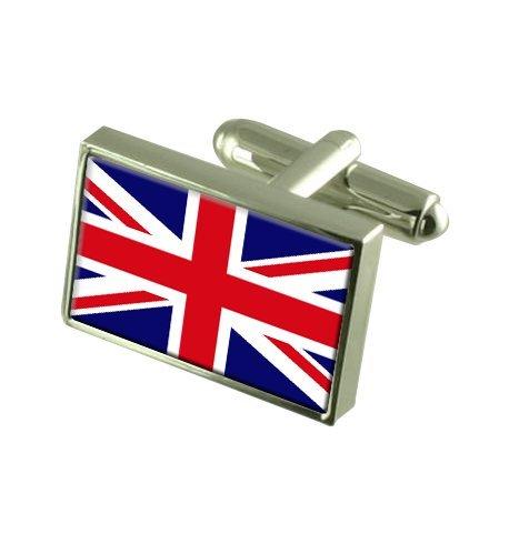 Grande Bretagne Boutons de manchette drapeau avec select pochette cadeaux