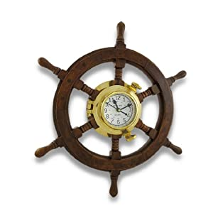 41Lcx9-ITiL._SS300_ Nautical Themed Clocks