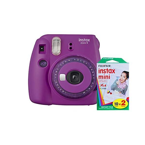 RetinaPix Fujifilm Instax Mini 9 Instant Camera with Mini Film Twin Pack (Purple)