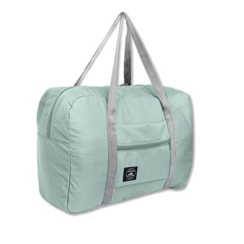 25L Travel Foldable Duffel Bag for Women & Men, Waterproof Lightweight travel Luggage bag for Sports, Gym, Vacation(II-Mint Green) by FUNFEL