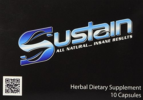 Sustain All Natural Enhancer & Testosterone Booster 10 capsules (10 Pack)