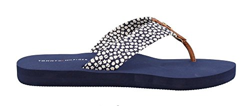 Tommy Hilfiger Women's, Chottie X Thong Sandals Navy Flower 7 M