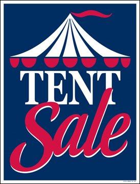 Image Unavailable  sc 1 st  Amazon.com & Amazon.com : Tent Sale Red-Blue Window Sale Sign Posters Retail ...