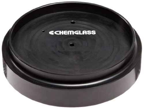 Chemglass CG-1991-01 Black Anodized Aluminum Reaction Block, 17 Position, 24mm Hole Depth, For Circular Top Hot Plate Stirrer by Chemglass