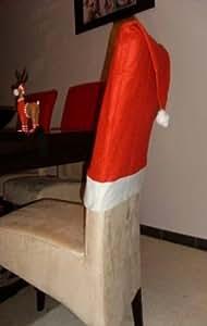 Katjas Dreamland - Lote de fundas para silla con forma de gorro de Papá Noel (8 unidades)