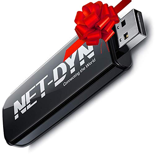 NET-DYN Dual Band USB Wireless WiFi Adapter, AC600, 5GHz and 2.4GHz (450/150Mbps), Amazon Internet Dongle for PC and Mac, Laptop and Desktop