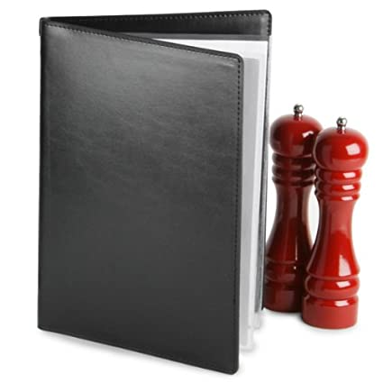 Diseño de Douglas Menu A4 negro | Diseño de piel sintética ...