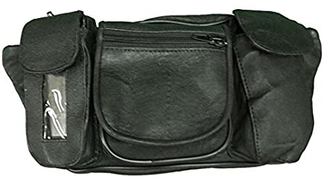 bb088a7a585d Vance Leather Magnetic Tank Bag/Fanny Pack with Five Pockets