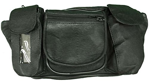 Vance Leather Magnetic Tank Bag/Fanny Pack with Five Pockets (Daytona Bags Tank)
