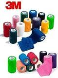 3M Vetrap 4'' Bandaging Tape 4''x 5 Yards, Assorted Colors (12 Colors,12 Rolls)