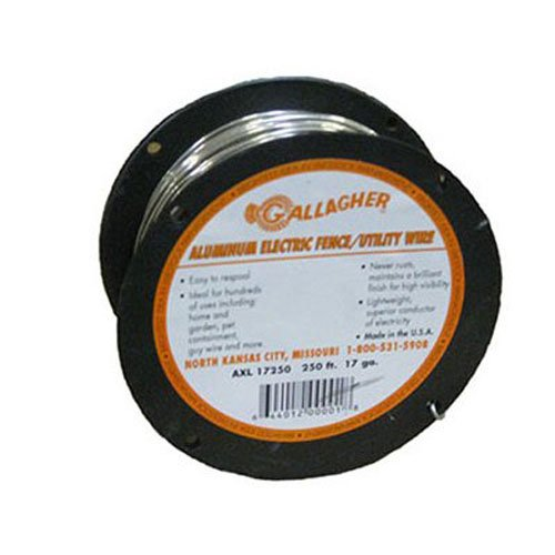 Gallagher AXL17250 17-Gauge Aluminum Wire Fence, 250-Feet (Best Insulator Of Electricity)