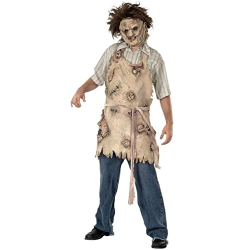 Rubie's Costume Texas Chainsaw Massacre Deluxe Apron Of Souls, Brown, One Size (Chainsaw Massacre Halloween Costume)