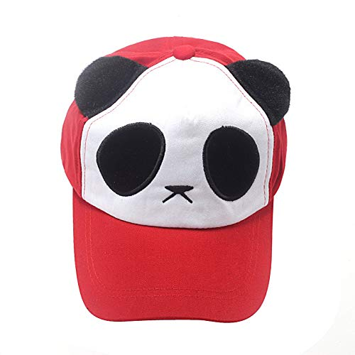 EOWEO Caps Hat,2019 anniversary celebration Cotton Cute Panda Baseball Cap Hat Red