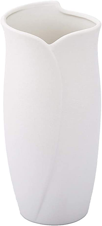 Anding White Ceramic Vase -Modern Wase with Matte Design- Ideal Gift Flowers Vase for Friends, Family, Wedding, Table Vase, Perfect Home Decoration Vase (LY 478 White)
