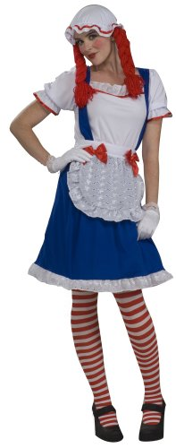 Rag Doll Girl Adult Womens Costumes (Rag Doll Girl with Cap Adult Halloween Costume Size Standard)