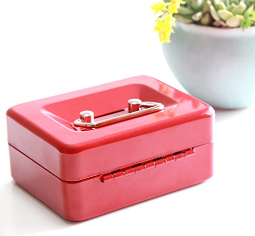 Small Coin Cash Box With Slot Jssmst Lock Box For Adults