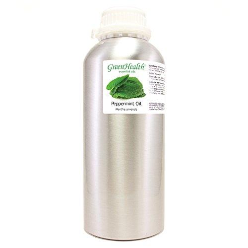 16 oz Japanese Peppermint Essential Oil (100% Pure & Uncut), Aluminum Bottle - GreenHealth ()