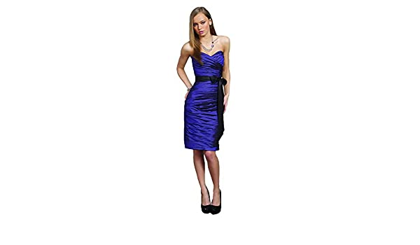 Mori Lee 895 Strapless Pleated Taffeta Short Sheath Dress, Purple, 12 at Amazon Womens Clothing store:
