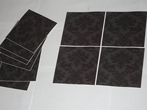 Piastrelle Da Parete Bagno : Confezione da pezzi colore nero adesivi da parete per il