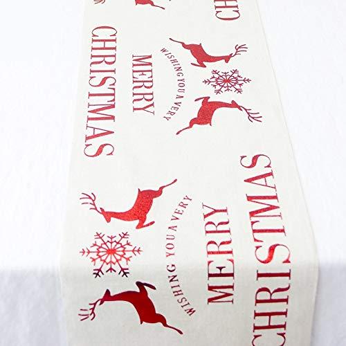 Zhoyea Durable Christmas Dining Table Runner Table Flag